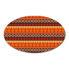 Abstract Lines Seamless Art  Pattern Oval Magnet by Amaryn4rt