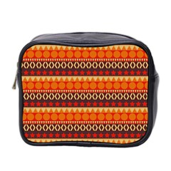 Abstract Lines Seamless Art  Pattern Mini Toiletries Bag 2 Side by Amaryn4rt