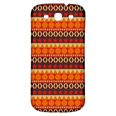 Abstract Lines Seamless Art  Pattern Samsung Galaxy S3 S Iii Classic Hardshell Back Case by Amaryn4rt