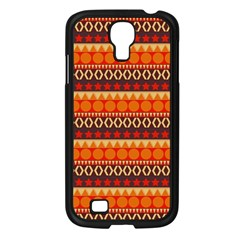 Abstract Lines Seamless Art  Pattern Samsung Galaxy S4 I9500/ I9505 Case (black)
