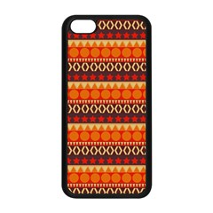 Abstract Lines Seamless Art  Pattern Apple Iphone 5c Seamless Case (black) by Amaryn4rt