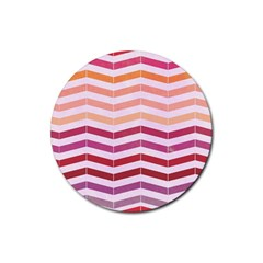 Abstract Vintage Lines Rubber Coaster (round)  by Amaryn4rt
