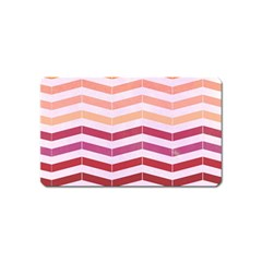 Abstract Vintage Lines Magnet (name Card) by Amaryn4rt