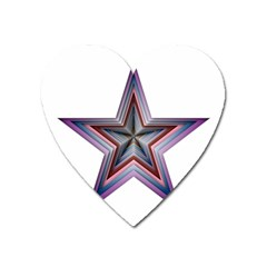 Star Abstract Geometric Art Heart Magnet by Amaryn4rt