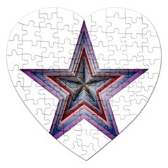 Star Abstract Geometric Art Jigsaw Puzzle (heart) by Amaryn4rt