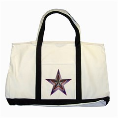 Star Abstract Geometric Art Two Tone Tote Bag by Amaryn4rt