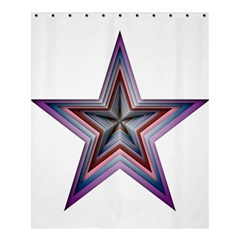 Star Abstract Geometric Art Shower Curtain 60  X 72  (medium)  by Amaryn4rt