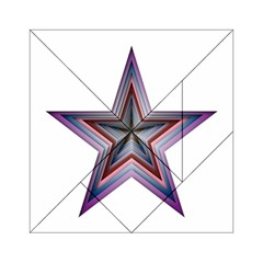 Star Abstract Geometric Art Acrylic Tangram Puzzle (6  X 6 ) by Amaryn4rt