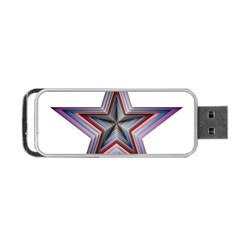 Star Abstract Geometric Art Portable Usb Flash (one Side) by Amaryn4rt