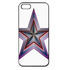 Star Abstract Geometric Art Apple Iphone 5 Seamless Case (black) by Amaryn4rt
