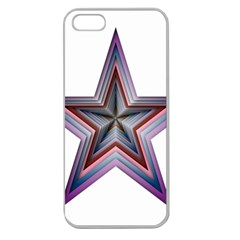 Star Abstract Geometric Art Apple Seamless Iphone 5 Case (clear) by Amaryn4rt