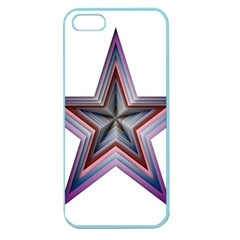Star Abstract Geometric Art Apple Seamless Iphone 5 Case (color) by Amaryn4rt