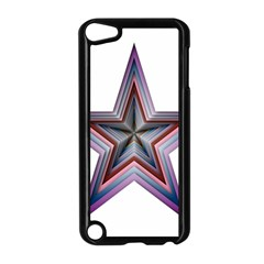 Star Abstract Geometric Art Apple Ipod Touch 5 Case (black) by Amaryn4rt