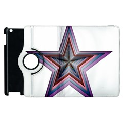 Star Abstract Geometric Art Apple Ipad 3/4 Flip 360 Case by Amaryn4rt