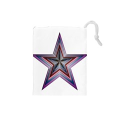 Star Abstract Geometric Art Drawstring Pouches (small)  by Amaryn4rt