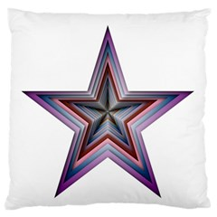 Star Abstract Geometric Art Large Flano Cushion Case (two Sides) by Amaryn4rt