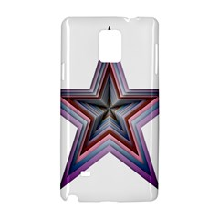 Star Abstract Geometric Art Samsung Galaxy Note 4 Hardshell Case by Amaryn4rt