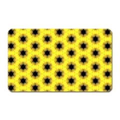 Yellow Fractal In Kaleidoscope Magnet (rectangular) by Amaryn4rt