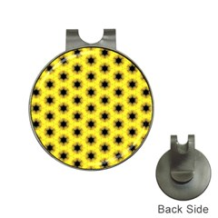 Yellow Fractal In Kaleidoscope Hat Clips With Golf Markers by Amaryn4rt