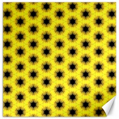 Yellow Fractal In Kaleidoscope Canvas 20  X 20   by Amaryn4rt