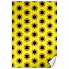 Yellow Fractal In Kaleidoscope Canvas 20  X 30   by Amaryn4rt