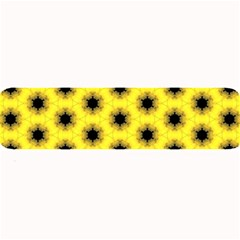 Yellow Fractal In Kaleidoscope Large Bar Mats by Amaryn4rt