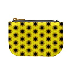 Yellow Fractal In Kaleidoscope Mini Coin Purses by Amaryn4rt