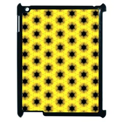 Yellow Fractal In Kaleidoscope Apple Ipad 2 Case (black) by Amaryn4rt
