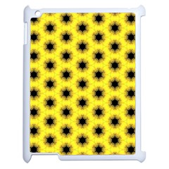 Yellow Fractal In Kaleidoscope Apple Ipad 2 Case (white) by Amaryn4rt