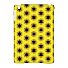 Yellow Fractal In Kaleidoscope Apple Ipad Mini Hardshell Case (compatible With Smart Cover) by Amaryn4rt