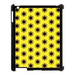 Yellow Fractal In Kaleidoscope Apple Ipad 3/4 Case (black) by Amaryn4rt