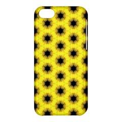 Yellow Fractal In Kaleidoscope Apple Iphone 5c Hardshell Case by Amaryn4rt