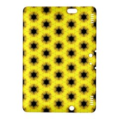 Yellow Fractal In Kaleidoscope Kindle Fire Hdx 8 9  Hardshell Case by Amaryn4rt