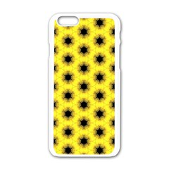 Yellow Fractal In Kaleidoscope Apple Iphone 6/6s White Enamel Case by Amaryn4rt
