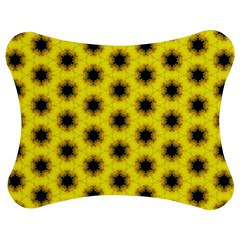 Yellow Fractal In Kaleidoscope Jigsaw Puzzle Photo Stand (bow) by Amaryn4rt