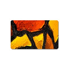 Colorful Glass Mosaic Art And Abstract Wall Background Magnet (name Card) by Amaryn4rt