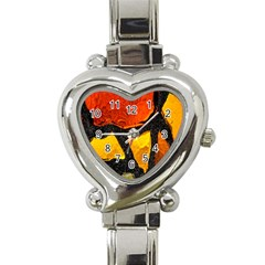 Colorful Glass Mosaic Art And Abstract Wall Background Heart Italian Charm Watch by Amaryn4rt