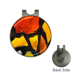 Colorful Glass Mosaic Art And Abstract Wall Background Hat Clips With Golf Markers by Amaryn4rt