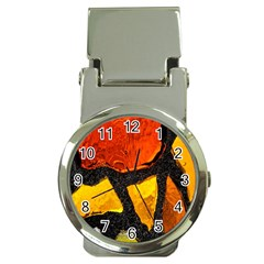 Colorful Glass Mosaic Art And Abstract Wall Background Money Clip Watches by Amaryn4rt