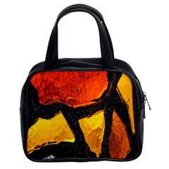Colorful Glass Mosaic Art And Abstract Wall Background Classic Handbags (2 Sides)