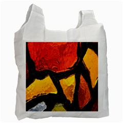 Colorful Glass Mosaic Art And Abstract Wall Background Recycle Bag (one Side) by Amaryn4rt