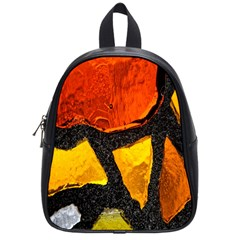 Colorful Glass Mosaic Art And Abstract Wall Background School Bags (small)  by Amaryn4rt