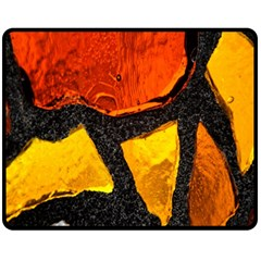 Colorful Glass Mosaic Art And Abstract Wall Background Fleece Blanket (medium)  by Amaryn4rt