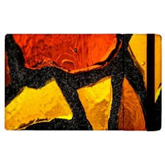 Colorful Glass Mosaic Art And Abstract Wall Background Apple Ipad 3/4 Flip Case by Amaryn4rt