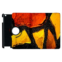 Colorful Glass Mosaic Art And Abstract Wall Background Apple Ipad 2 Flip 360 Case by Amaryn4rt