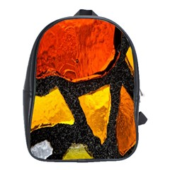 Colorful Glass Mosaic Art And Abstract Wall Background School Bags (xl)  by Amaryn4rt