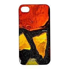 Colorful Glass Mosaic Art And Abstract Wall Background Apple Iphone 4/4s Hardshell Case With Stand by Amaryn4rt