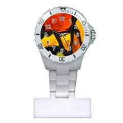 Colorful Glass Mosaic Art And Abstract Wall Background Plastic Nurses Watch by Amaryn4rt