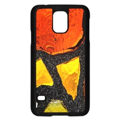 Colorful Glass Mosaic Art And Abstract Wall Background Samsung Galaxy S5 Case (black) by Amaryn4rt