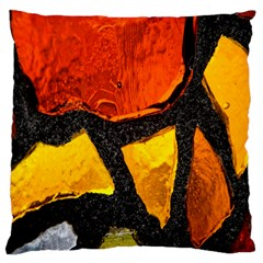 Colorful Glass Mosaic Art And Abstract Wall Background Standard Flano Cushion Case (one Side) by Amaryn4rt